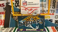 Jacksonville Jaguars metal license plate ornament by Forever Collectibles  *New*