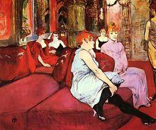 Au salon de la rue des Moulins by Toulouse Lautrec Bild Poster Druck NEU