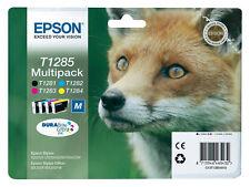 4 originales Epson sx420w sx425w sx435w cartucho de impresora tinta cartuchos set t1285