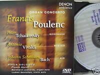 Sofia Soloists- Organ Concerto- Poulenc/Tchaikovsky ua DENON 1999- DVD-Video NEU