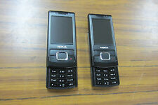 lot of  2  Nokia  6500 slider  black (Unlocked)  GSM  for part or not working