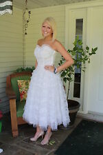 Vintage Antique WEDDING GOWN Dress Party Bustier Bodice With Jacket KERRYBROOKE