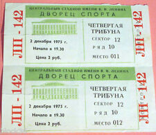 Two 1975 tickets to Moscow Sports Palace