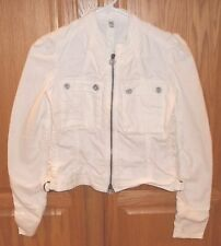 Ladies JOIE WHITE JACKET~size XS~NEW~Cotton Full Zip~Stretch Spring Coat
