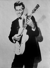 CHUCK BERRY clipping Johnny B. Goode B&W photo Gibson ES-350T Maybellene 1950s