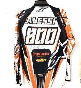 Mike Alessi Autographed Alpinestars Jersey Pro Supercross Motocross KTM #800