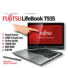 "Fujitsu LifeBook T935  Core i5 5200u 13.3"" Touchscreen 128GB 8GB BAD WEBCAM"