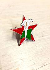 Easter Lily Red Star Enamel Pin Badge Irish Republican 1916 Rising Socialist