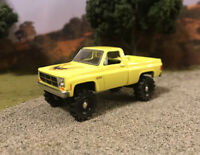 1976 Chevy K10 4x4 Truck Lifted 1/64 Diecast Custom GMC K15 Farm Square Body