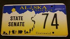 ALASKA STATE SENATE 74 LICENSE PLATE