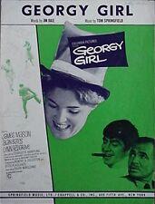 Georgy Girl, 1966 Sheet Music From The Movie (Lynn Redgrave, Alan Bates