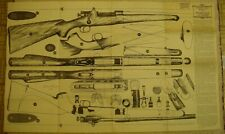"""Poster size 2' x 3' """"Samworth Booklet on Firearms"""" Pattern 1 Springfield Rifle"""