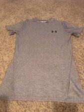 exc UNDER ARMOUR Grey Gray HEAT GEAR Compression Short Sleeve Shirt YMD Boys M