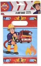 AMSCAN 998155 - Geburtstag & Party - 8 Partytüten Feuerwehrmann Sam