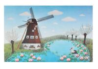 Erna Voigt Windmühle Poster Kunstdruck Bild 51,7x68cm