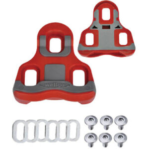 Wellgo 6-Degree Float Cleats Look KEO Compatible for Clipless Cycling Pedals