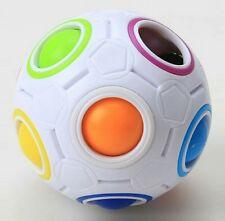 Rainbow e bianco a forma sferica BALL Magic Cube Twist Puzzle Velocità Giocattolo Regalo