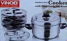 Vinod Stainless Steel Cooker with Multi Layer IDLI Stand
