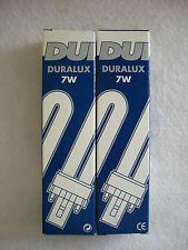 Dose di 2! 7W DURALUX-Risparmio Energetico 2 Pin LAMPADE-G23 - 840 Bianco