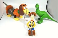 "Disney Pixar Toy Story Talking Rex Action Figure 13"" Tall ~Slinky Dog and Woody"