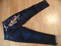 VINGINO tolle Chino Boyfriend Jeans VITALIA DARK Gr. 8 J / 128 NEU 216