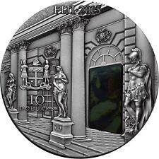 10 Dollar Fidschi 2015 Amber Room - Katharinenpalast, 3 Unzen Feinsilber 0.999