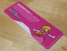 Nintendo Game Boy Advance SP GBA SP Princess Peach Sticker Label  MINT