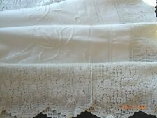 WHITE ON WHITE FLORAL EMBROIDERY  TABLE CLOTH 40/42 ins square