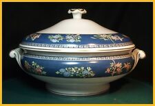 Wedgwood Blue Siam Round Covered Vegetable Dish 1st Quality New Unused