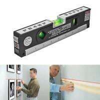 Laser Level Rule Tool ABS Measuring Tape 3 Line Modes Spirit Horizontal Vertical