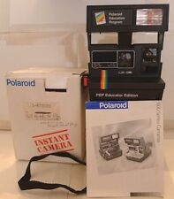 Polaroid Rainbow 600 PEP Educator Edition Instant Camera +Manual & Box TESTED