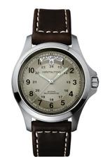 Hamilton Khaki Field King Auto Beige Dial Leather Band Men's Watch H64455523