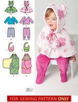 SEWING PATTERN! MAKE BABY GIRL TOP~PANTS~CAPE~BLANKET WRAP! PREEMIE-18 MONTHS