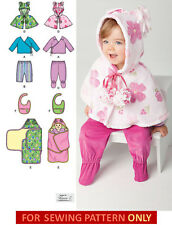 SEWING PATTERN! MAKE BABY GIRL TOP~PANTS~CAPE~BLANKET WRAP! PREEMIE-18 MONTHS