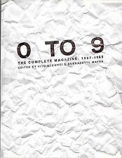 0 To 9: Complete Magazine Vito Acconci & Bernadette Mayer Experimental Writing