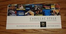 Original 1989 Cadillac Eldorado & Seville Interior Color Selections Brochure 89