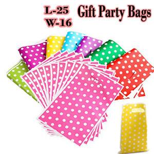 POLKA DOT PLASTIC BAG 10 20 30 50 Sweet Small Bag Party Favor Candy Gift  Filler