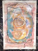 V. Boeri DIPINTO TECNICA MISTA  Arte contemporanea  anni 60/70