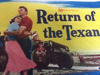 RETURN OF THE TEXAN original rolled Half Sheet Movie Poster 1952