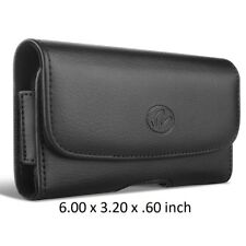 Horizontal Leather Case Belt Clip Cover Holster Pouch 6.00 x 3.20 x .60 Inches