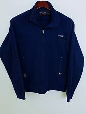 MJ1165 Men Patagonia Synchilla Blue Polyester Fleece Jacket Size S