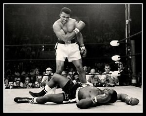 "4.5"" Muhammad Ali vs. Sonny Liston Knock Out vinyl sticker. Classic Boxing decal"