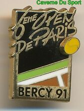 PIN'S BADGE TENNIS 6ième OPEN PARIS BERCY 1991