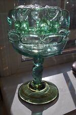 DECORATIVE HAND MADE GLASS FLOWER VASE WITH GLASS FROG/FLOWER HOLDER #5020