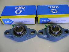 """2 Excellent Quality NMD Brand UCFL205-16 1"""" Bore 2 Bolts Flange Bearings"""