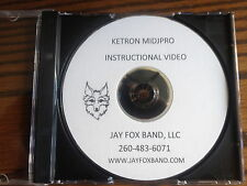 Ketron Midjpro  Instructional DVD w/rewritten manual