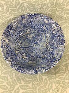 Burleigh Blue & White Floral Bowl 30 cm Diameter.  Ironstone