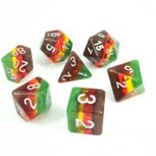 HD DICE rpg Autumn Translucent Gradient Rainbow 7 dice set D&D new!!!