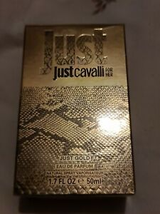 JUST CAVALLI  FOR HER, JUST GOLD, EAU DE PARFUM 50ML new and sealed