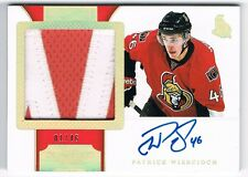 2011-12 Dominion Autograph Rookie Patch Horizontal #161 Patrick Wiercioch 01/46